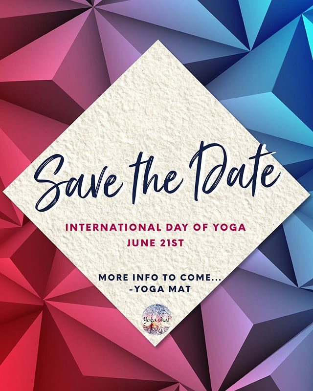 We can't wait to share all the things we have planned for International Day of Yoga! 🤗 We'll be posting more information soon both on IG and FB!😎 #YogaMat #BeHereBeHome #Yoga #ClarksvilleYoga