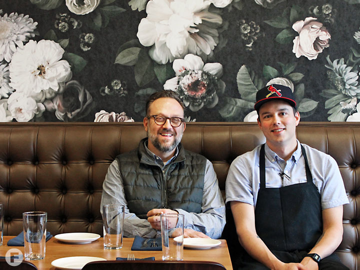 Louie owner Matt McGuire and executive chef Sean Turner. Photo by Jacklyn Meyer.