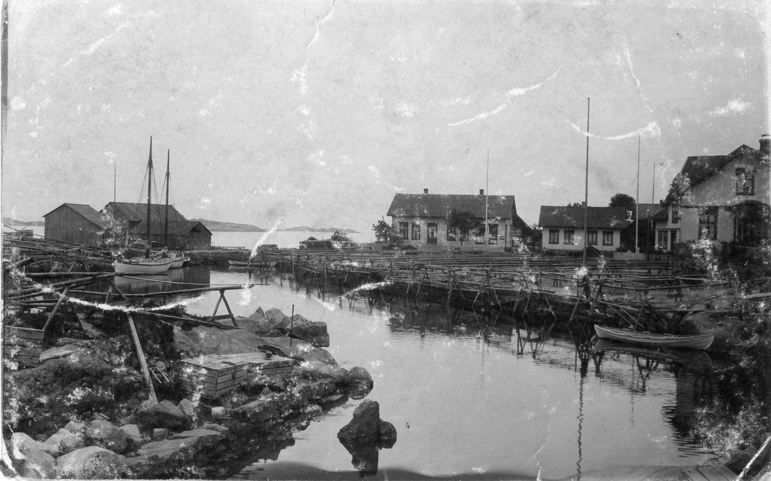 Brygga fra N (kort sendt 1912).JPG
