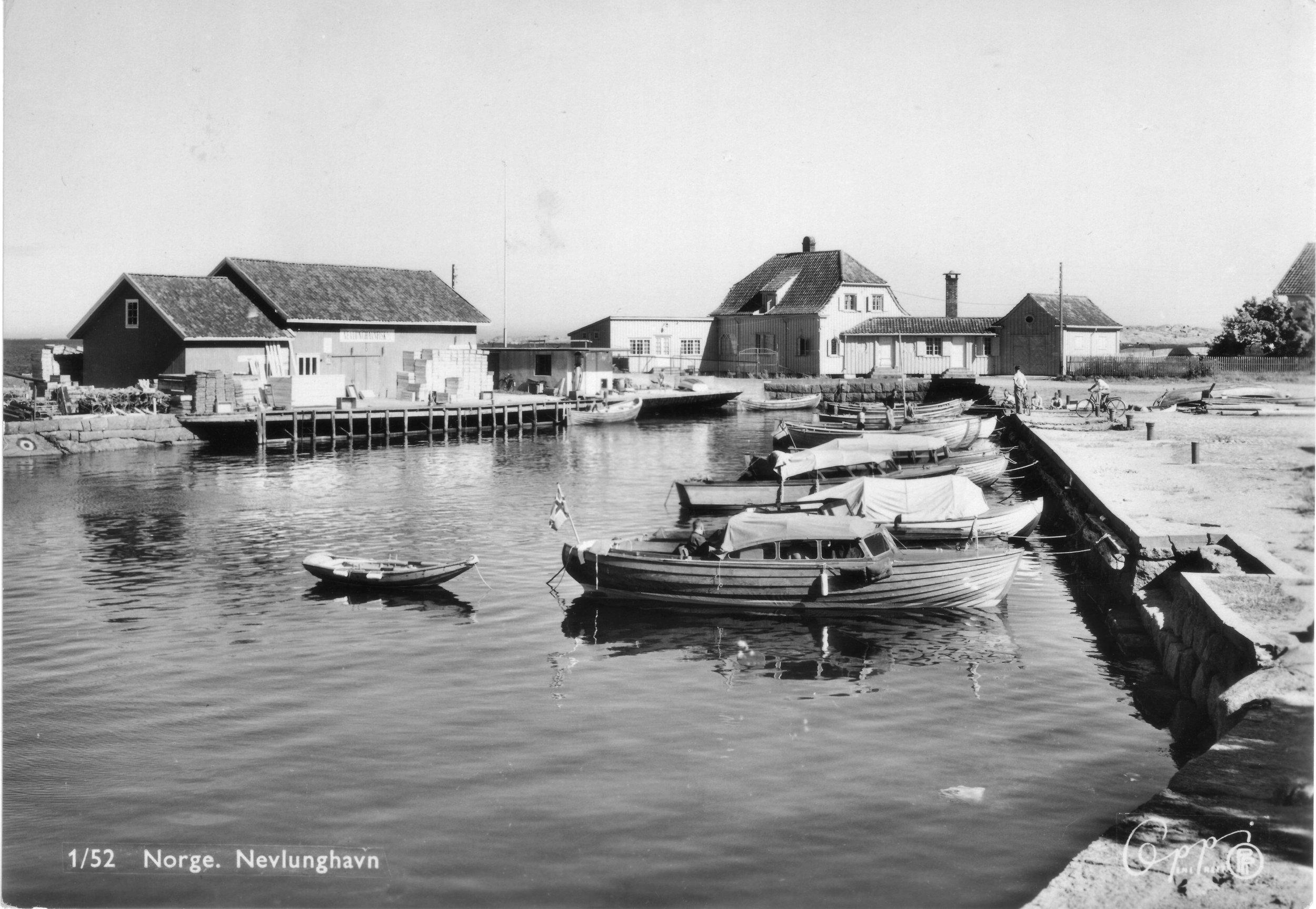 Brygga fra NV (kort sendt 1952).JPG