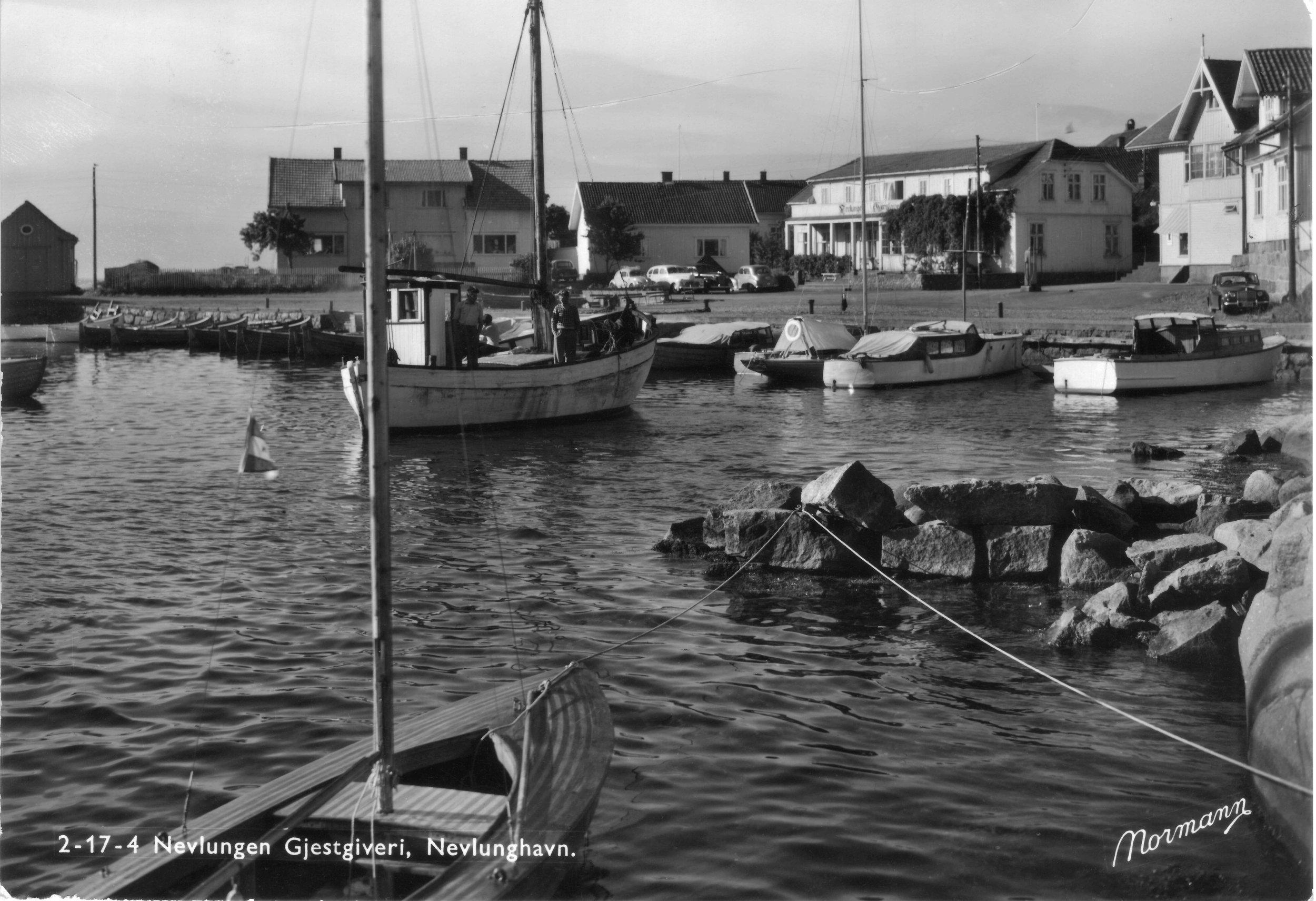 Brygga fra NØ (kort sendt 1957).JPG
