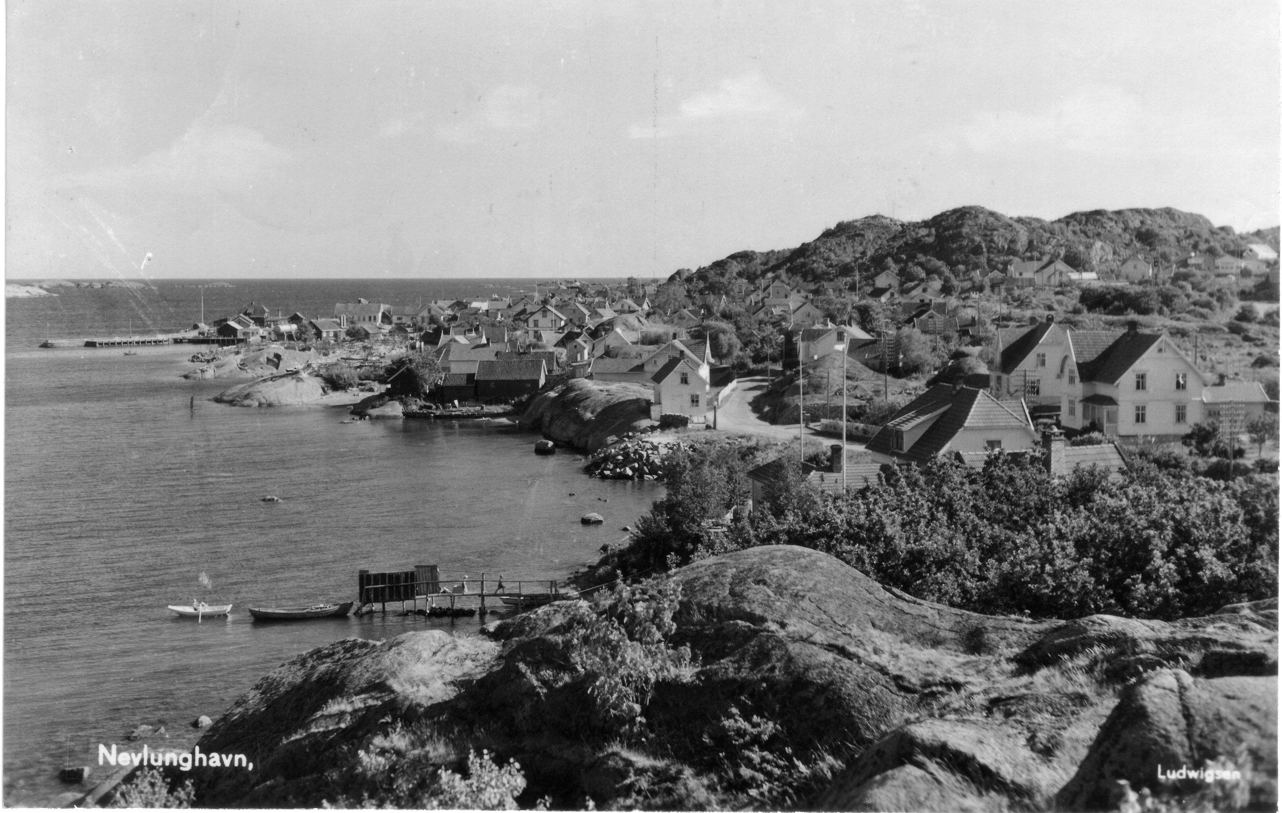 Havna fra N (kort sendt 1949).JPG