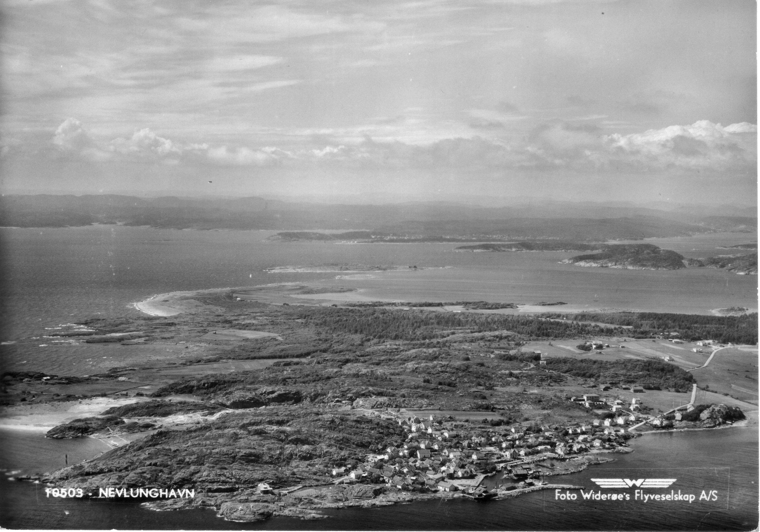 Havna fra S (kort sendt 1955).JPG