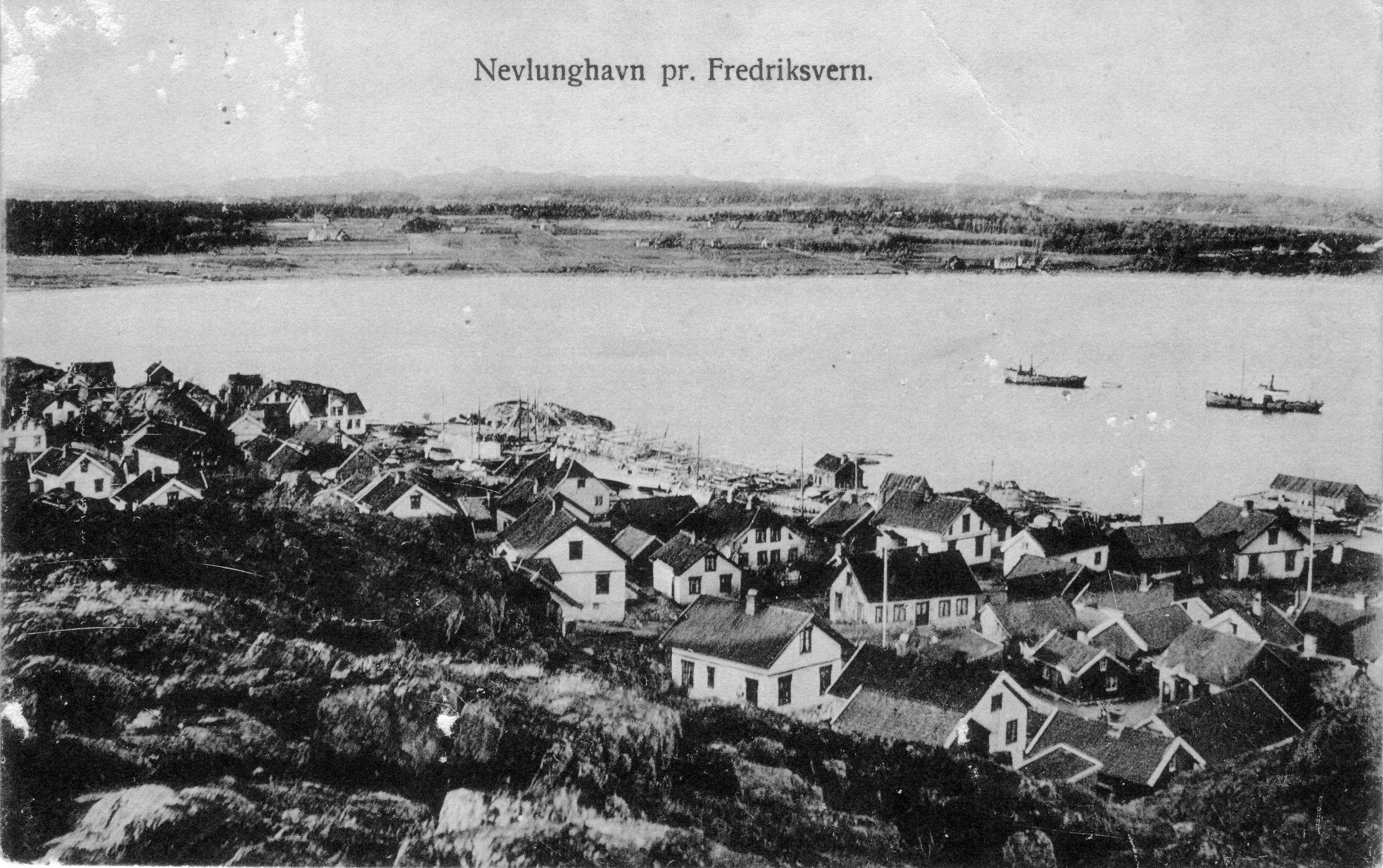 Havna fra SV (kort sendt 1909).JPG