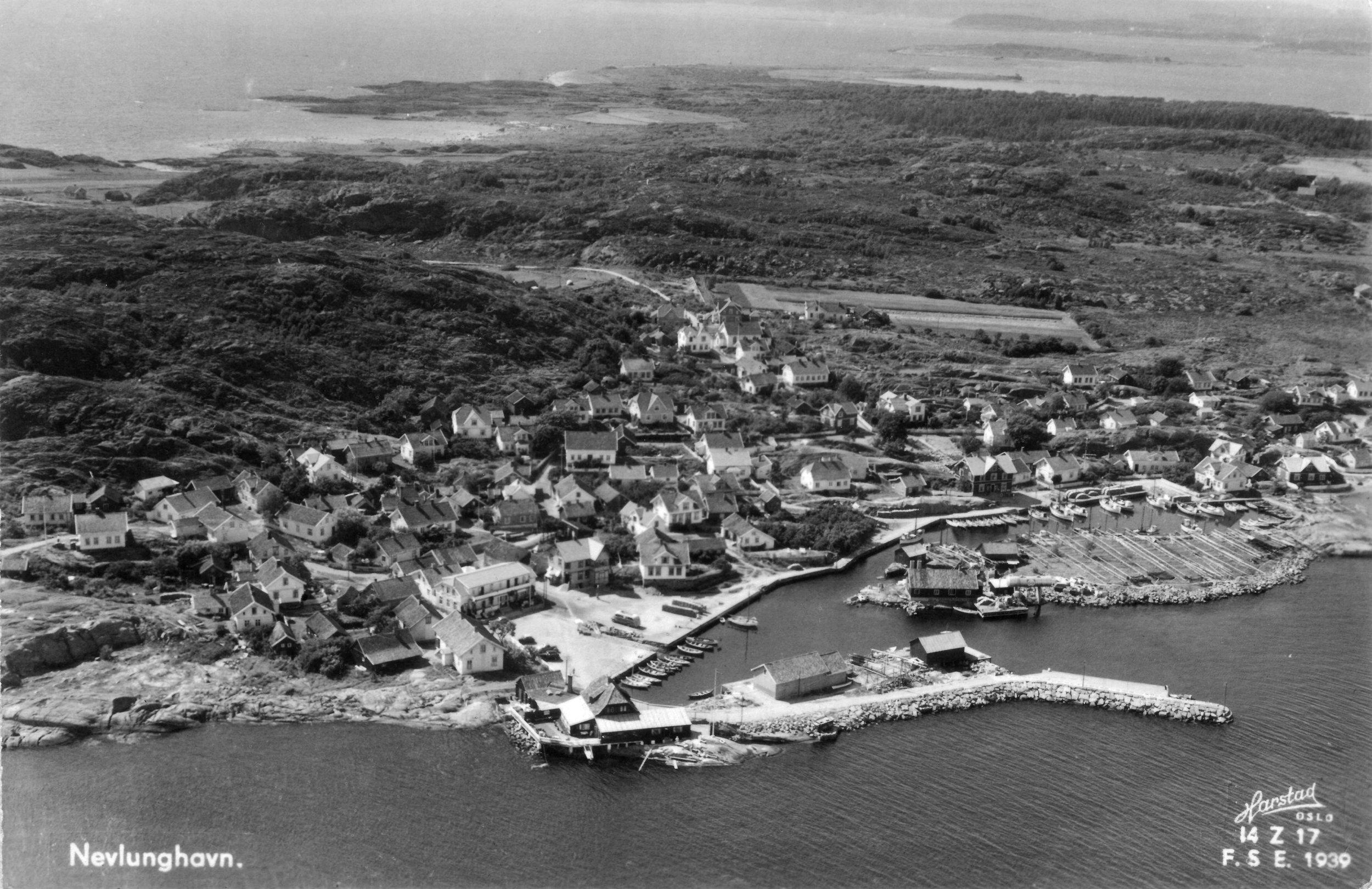 Havna fra SØ 1939 (kort sendt 1950).JPG