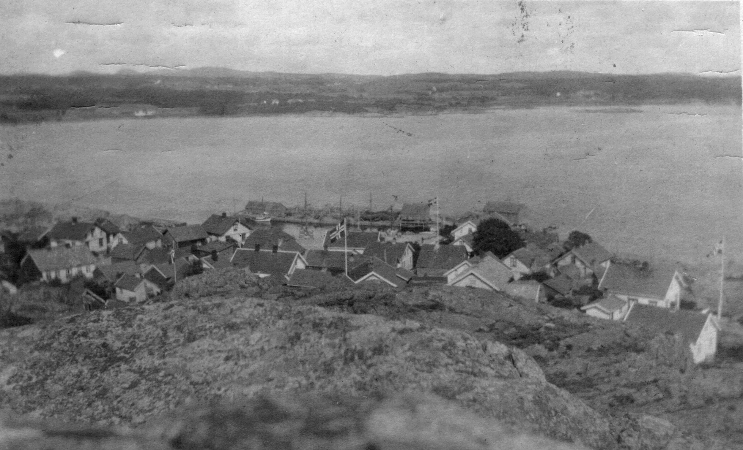 Havna fra V (kort sendt 1915).JPG