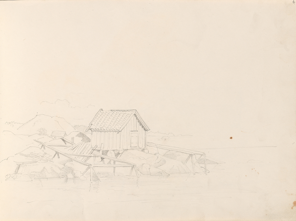 «Båthus, Nevlunghavn» September 1861
