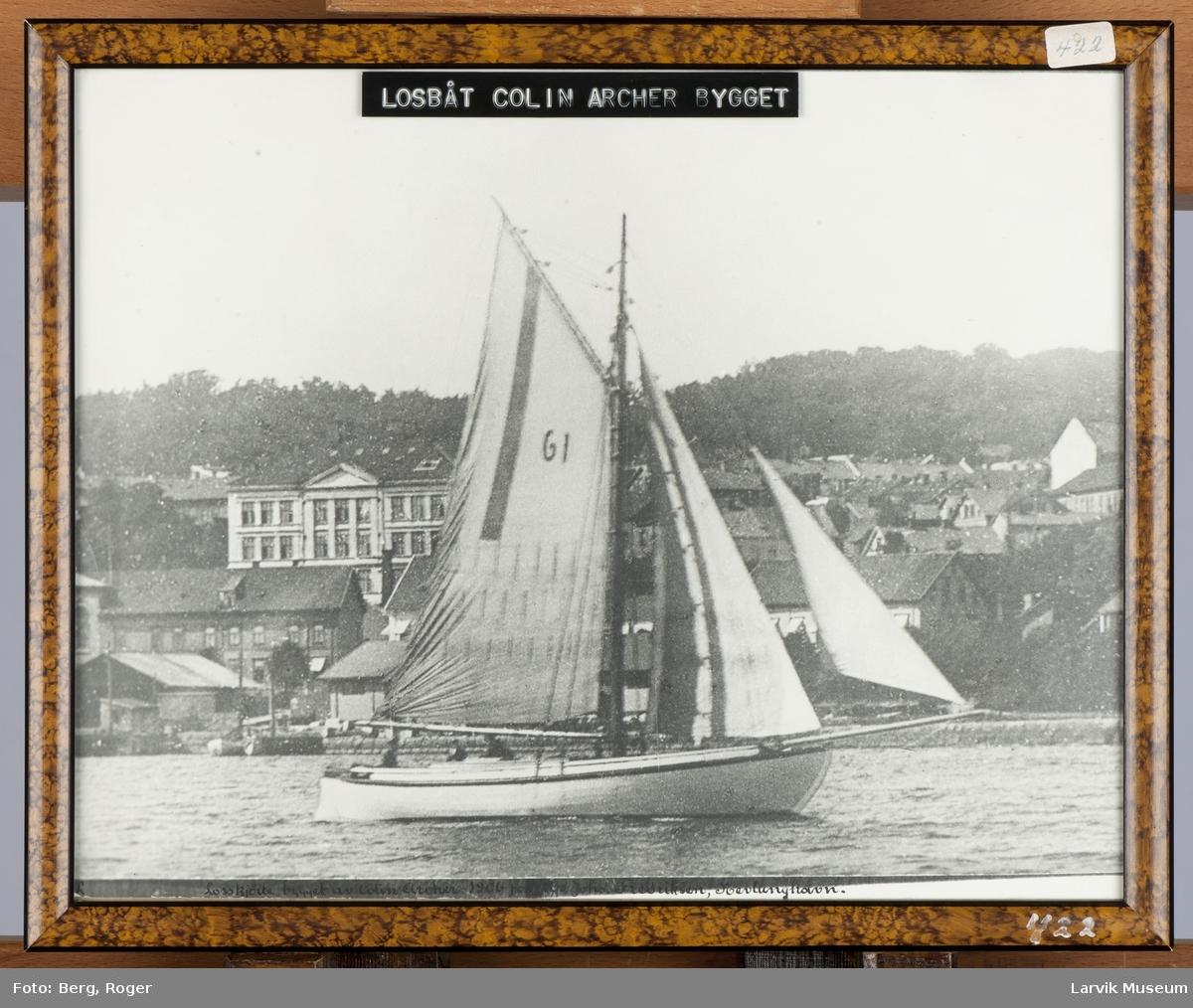Losskøite bygget av Colin Archer i 1906 for los Johs. Fredriksen, Nevlunghavn