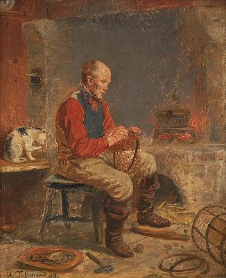 """Fiskeren bøter teine"" 1863"