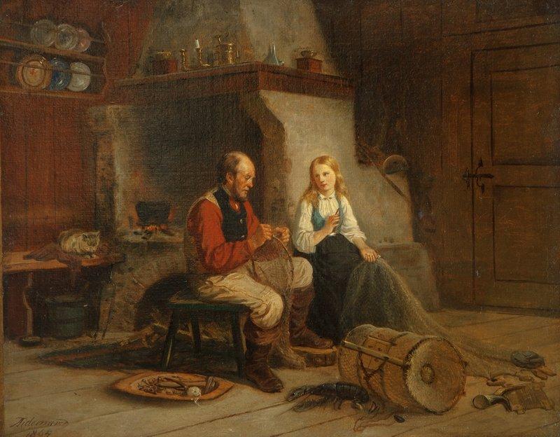 """""""Fiskeren og hans datter"""" 1864"""