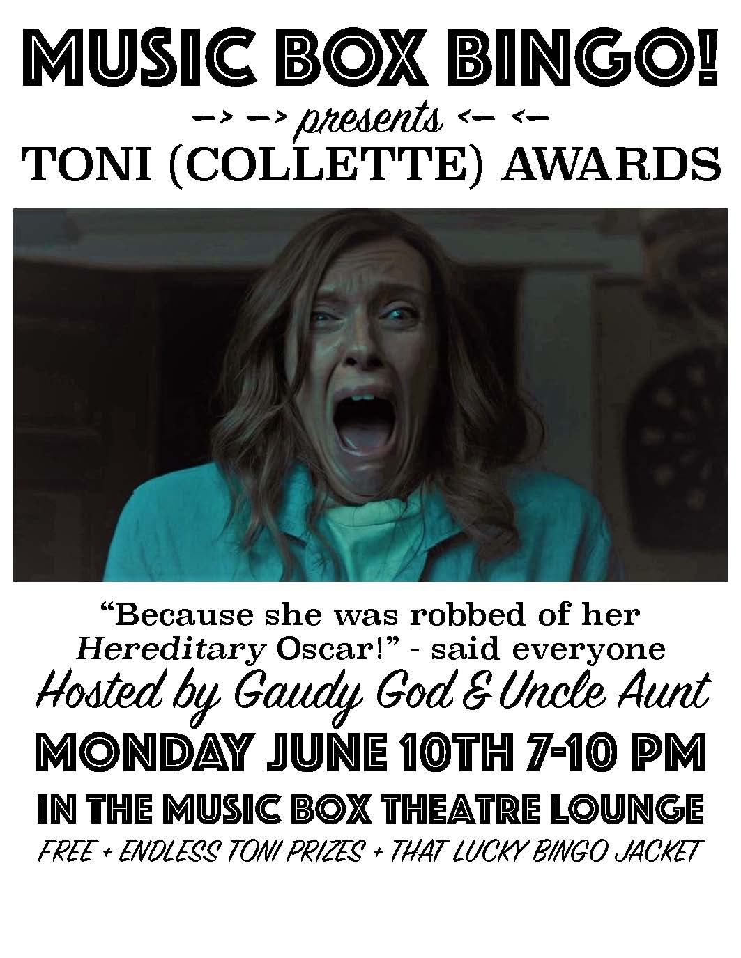 Toni Awards Poster Music Box Bingo