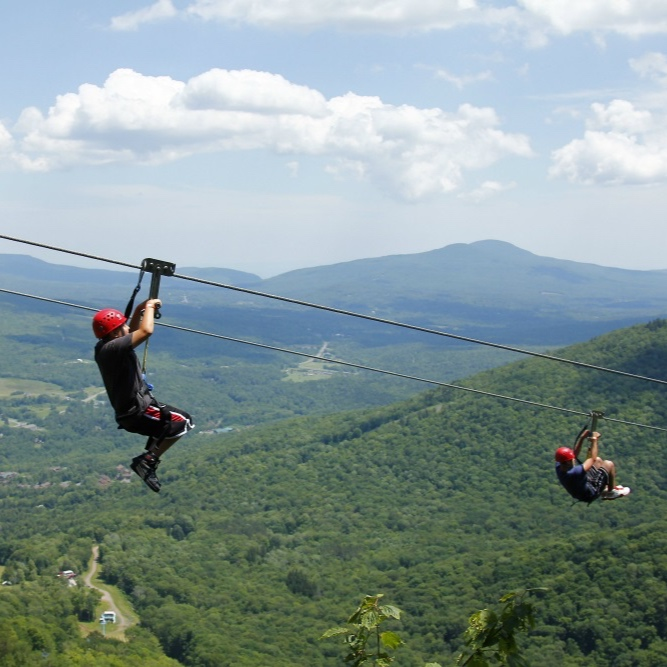 OUTDOOR ADVENTURES  | Hunter and Windham mountain are just as much fun in the summer. Think ziplines, skyrides, and outdoor obstacle courses.