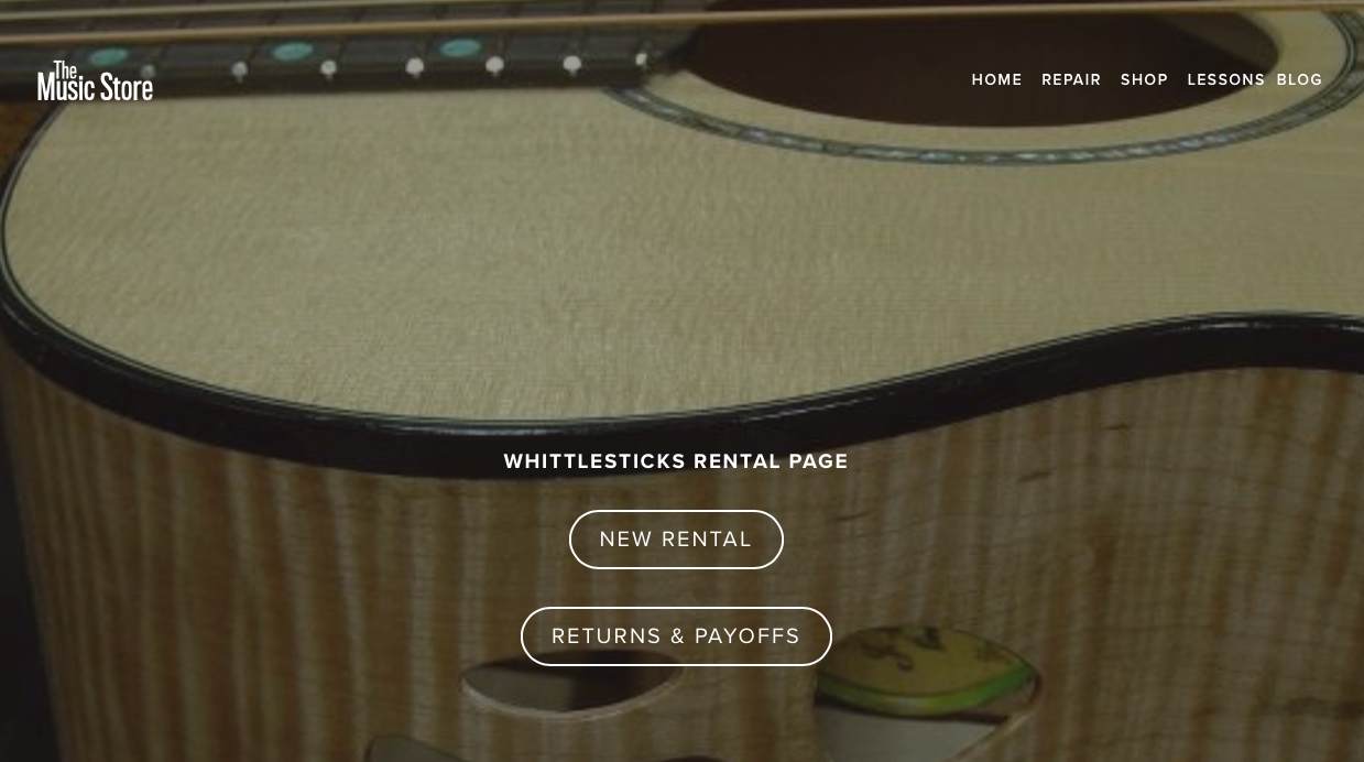 "Visit your ""Partner Dealer"" URL given by The Music Store. - Select ""New Rental"""