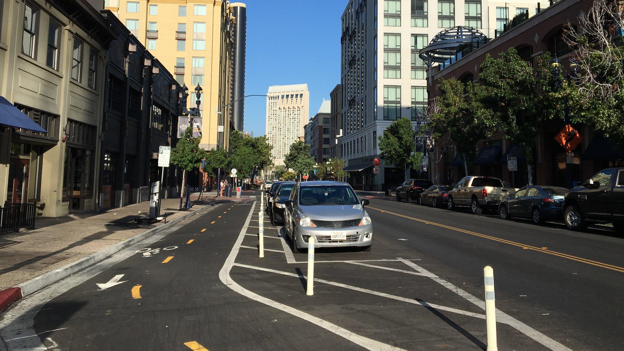 Alternative 2.A Precedent Example - J Street, San Diego, CA