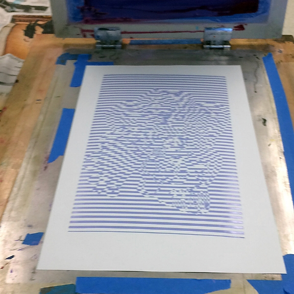 An azure layer with the ink still glistening right off the press.