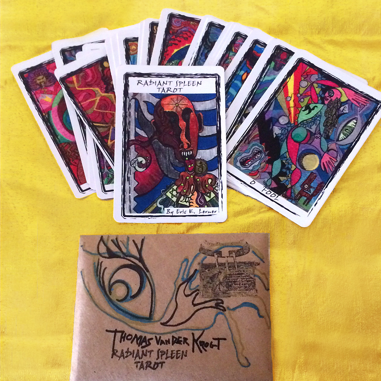 When you publish your own tarot, factors like paper choice and packaging come to the forefront as with the new edition of  The Radiant Spleen Tarot.