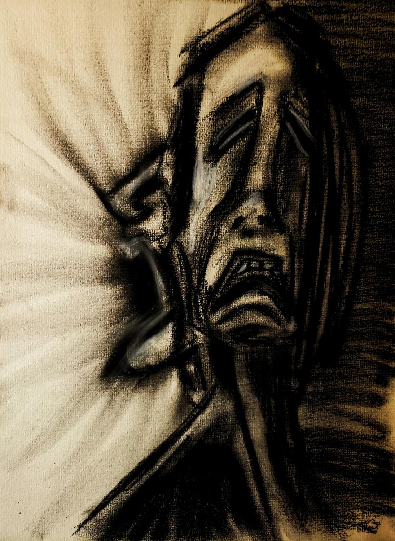 Self Portrait by Grieving