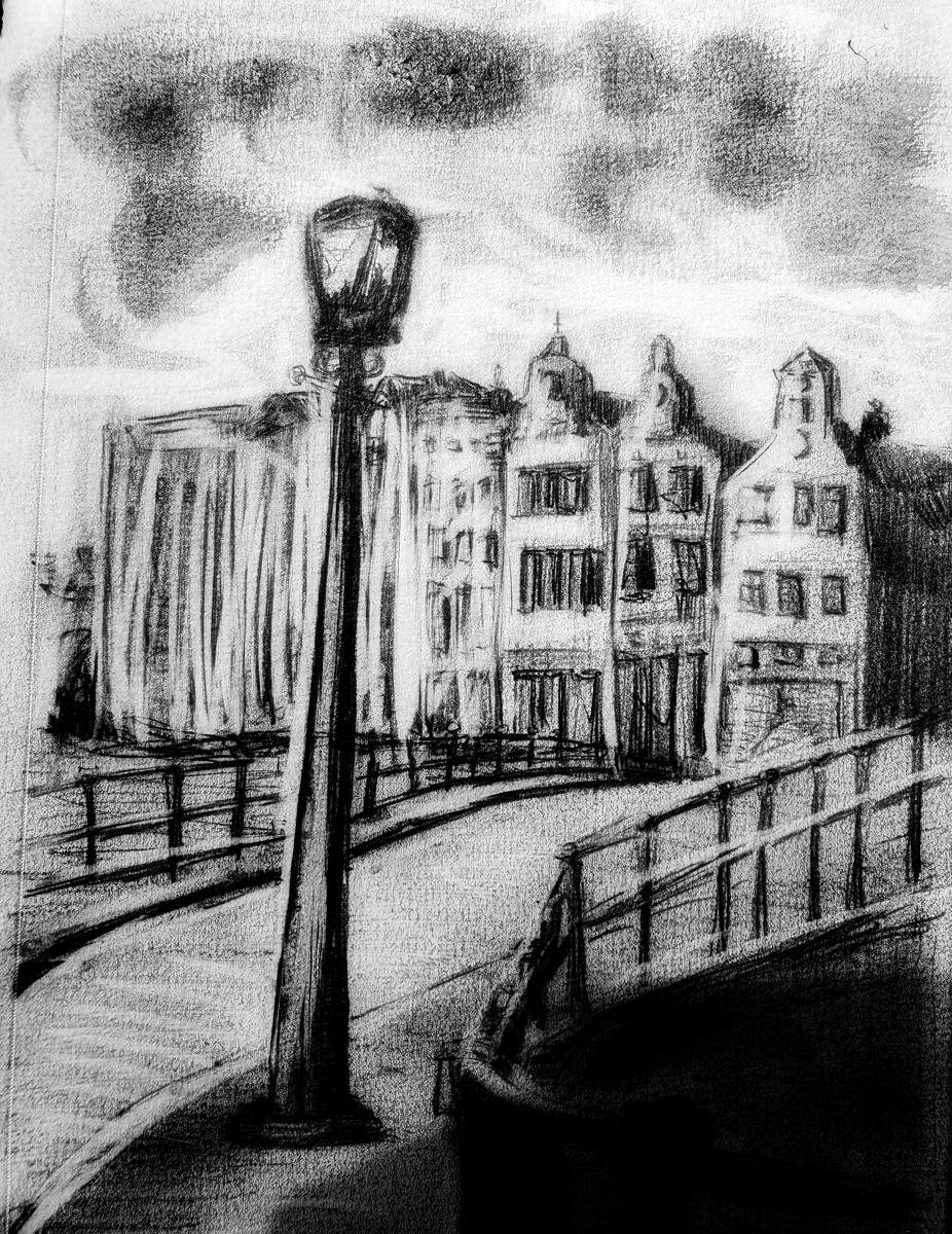 A Street Scene in Amstrerdam