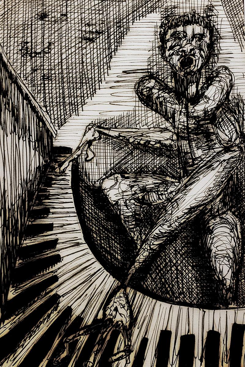 Self Portrait as Piano Man
