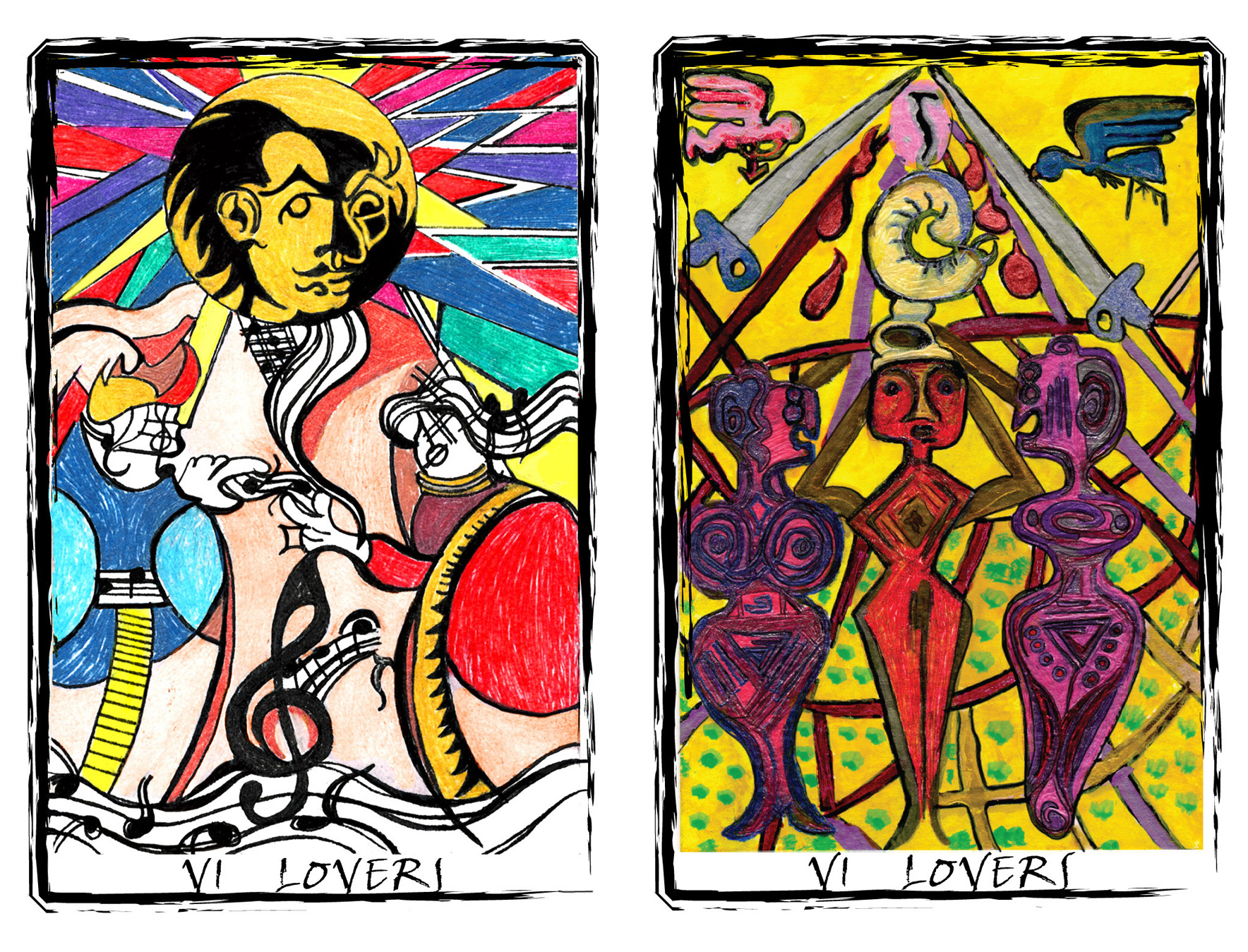 An additional Lover's card is included in the second Edition of the  Radiant Spleen Tarot.