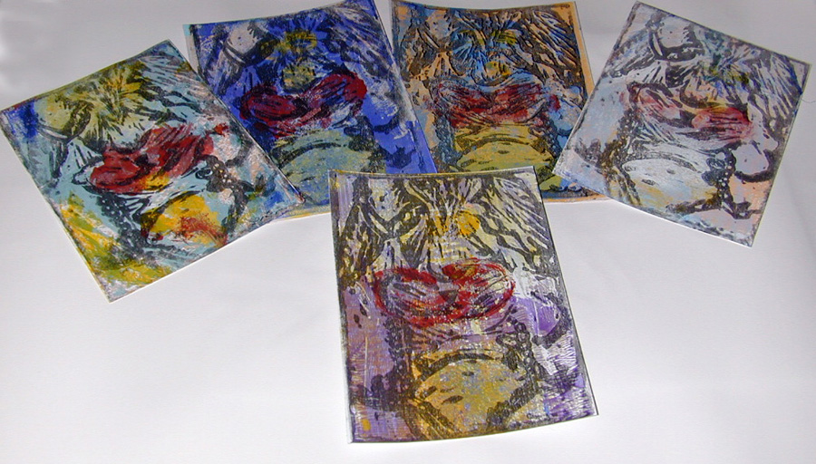 Examples of some of the different prints created.