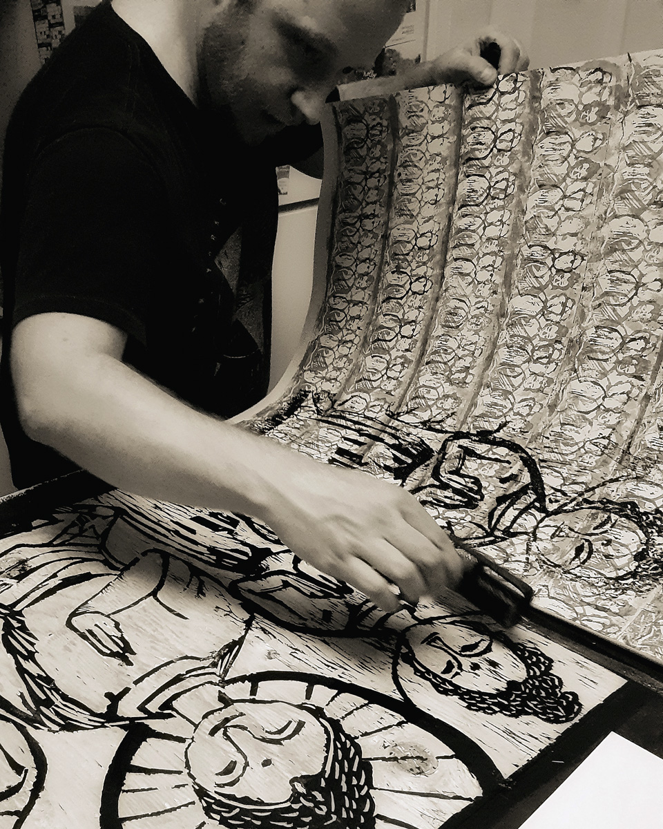 Thomas van der Krogt  producing one of a kind art in multiples. Check out his hand artistry  here .