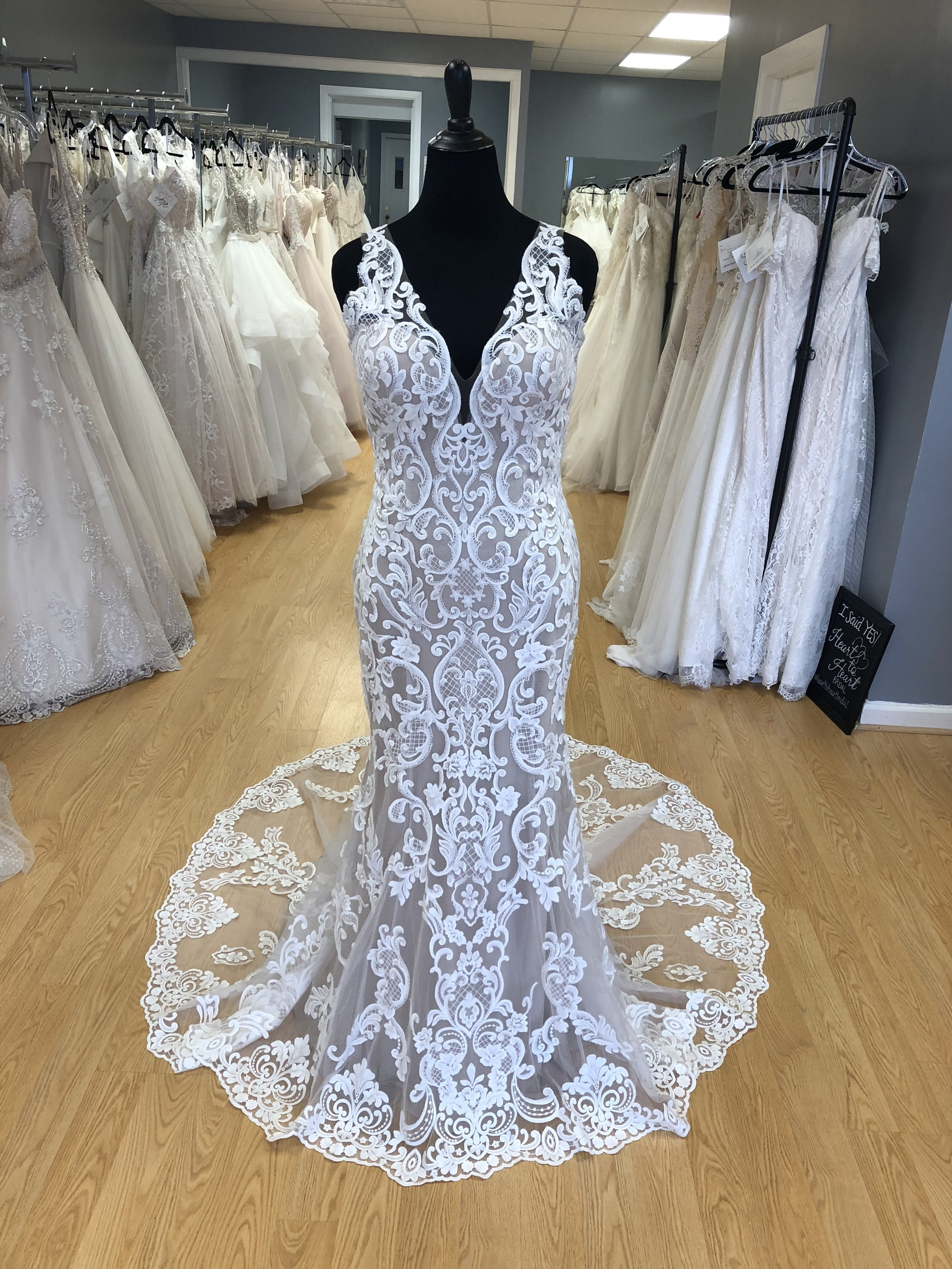 Our PRivate collection - At Heart to Heart Bridal, we have worked with our designers to curate a collection that is unique to our store. These dresses do not have a website, aren't sold online and are unique to our store so you won't be seeing them on a million other brides! If you are looking for something unique, this could be the collection for you! Our private collection dresses range in price from $898-$1,898.