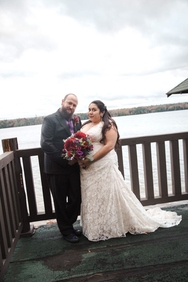 "Sarah 10/13/18 Venue: Adirondack League Club, Old Forge  Photographer:    Miranda Joly Photography      ""Amazing service, selection for plus size ladies. Couldn't have had a better experience with my consultant Sarah!"""