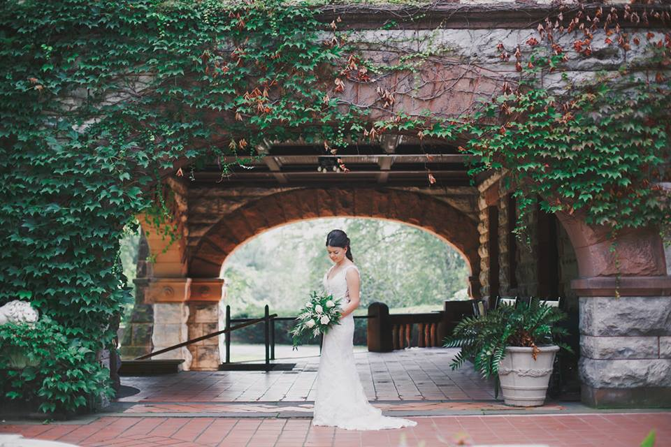 """Brianna 9/21/18 Photographer: Amy at    Magic Moments    """"I got married September 21 2018 at Sonnenberg gardens in Canandaigua NY. Heart to heart bridal made it very difficult to choose the right dress because they had so many beautiful options."""""""