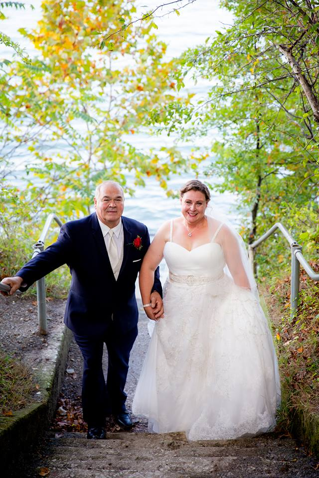 """Patti 10/6/18 Photographer:    AFG Photography    """"Thank you for your help find the wedding dress I didn't know I wanted! The experience with my mom is something I will treasure forever. Joe and I were married on October 6 2018 in Bay Village, OH."""""""