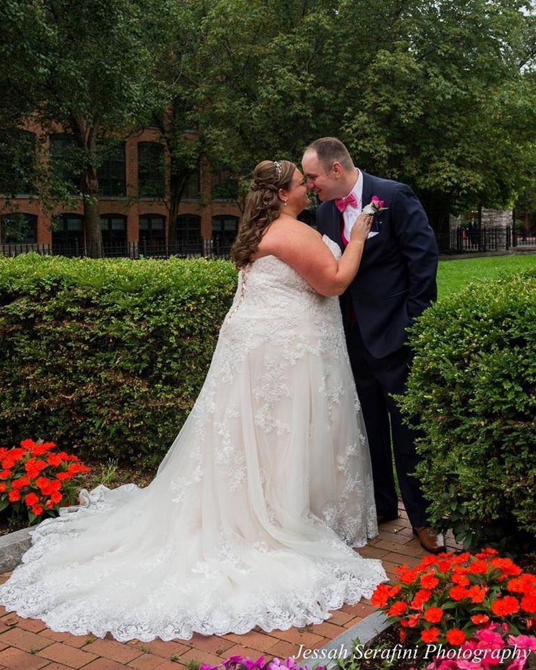 """Katie 8/18/18 Photographer:    Jessah Serafini Photography    """"I just wanted to share a few pics of me on my wedding day 8-18-18 of my beautiful dress by Maggie Sottero! Thank you for all of your help at heart to heart north! What amazing customer service and I felt so at home while shopping for a dress. I am so glad I made the trip out to Webster and didn't settle for a bridal shop in Syracuse. I will forever suggest to all my friends that are getting married in the future to go to heart to heart! Photo credit is on the water mark of the photos! Thank you again!!!!"""""""