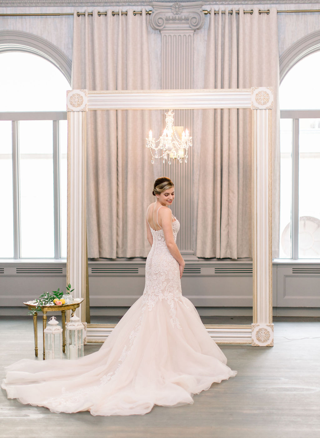 MAGGIE SOTTERO - Graceful and enduring bridal looks with a fresh and couture aesthetic, without the couture price tag! Maggie Sottero wedding dresses range in price from $1,148-$2,098.Photo by Chelsea Saxby PhotographyLocation: The Wilder RoomRentals: Something Borrowed RentalsShoot Coordination: Looloo's eventsModel: Sarah LaplacaFlorals: The Flower Girl