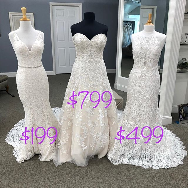 As we are ready for the National Bridal Sale now, we decided to start the sale early!😍The sale will end July 31st! Sizes range from 6 to 24, with the majority in the 10-14 range. Call 585-289-6523 or click the link in our Bio to schedule an appointment!