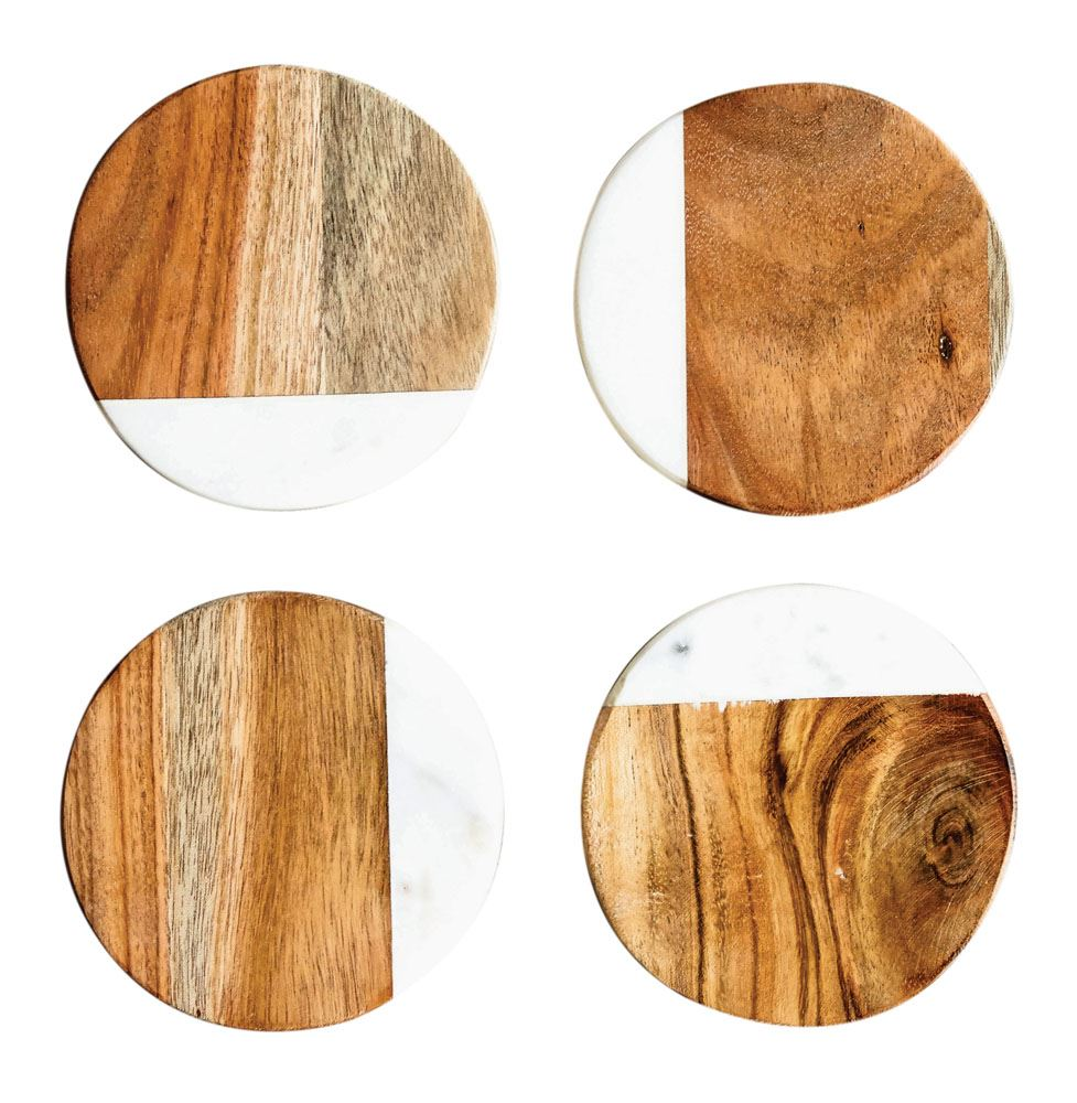 Marble & Wood Cutting Board