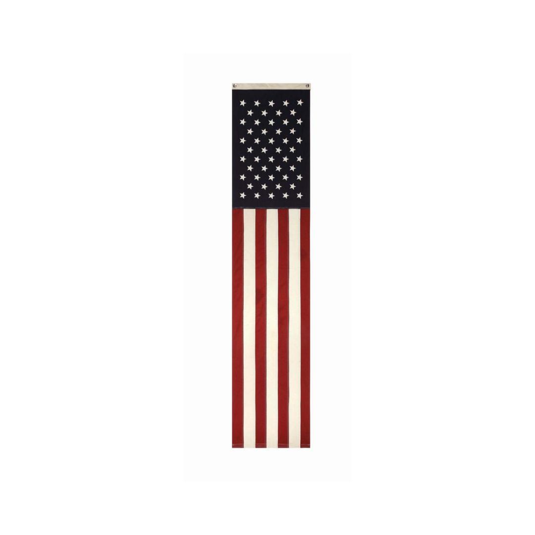 "20""L x 96""H Cotton Fabric Americana Banner w/ Grommets"