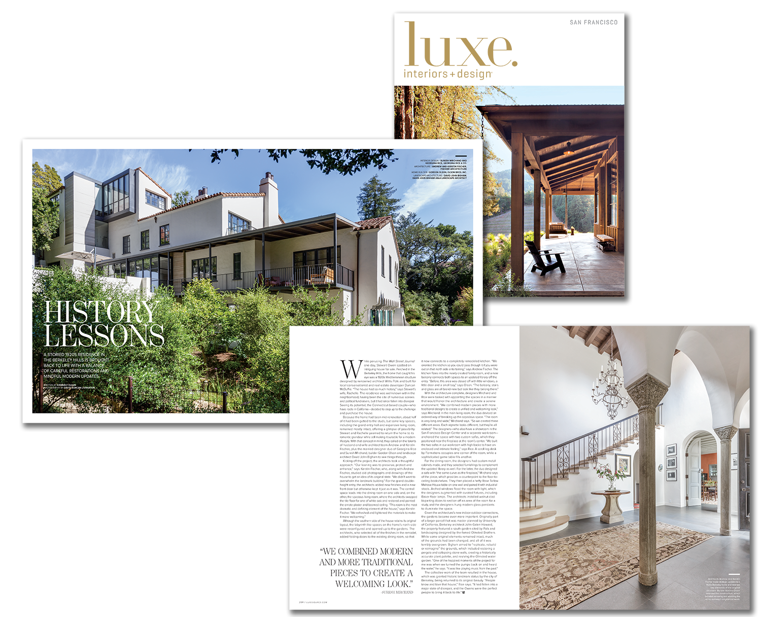 History Lessons - A recent project in a historic 1920's house in BerkeleyRead about our design project recently published in Luxe magazine. It was an inspiring and rewarding challenge for us.