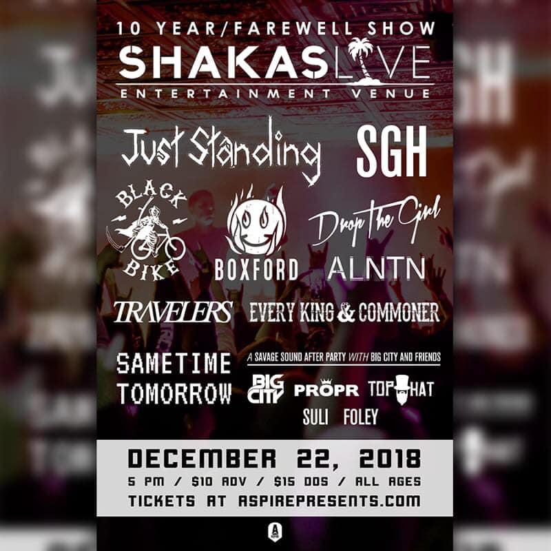 Shaka's 10 Year & Farewell Show at Shakas Live
