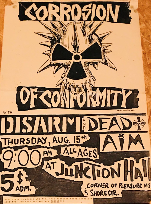 The show's flyer… from 34 years ago.