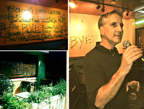 Joe the owner saying 'Goodbye' after 20+ years. Photo by Danna Cullen