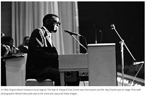 Ray Charles - The Dome, Virginia Beach, VA, September 22, 1962