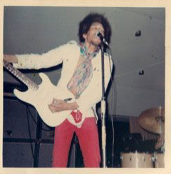 Jimi on stage at The Dome in Virginia Beach, August 21, 1968