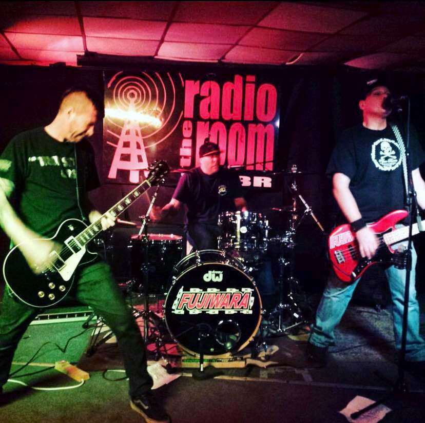 Fujiwara on stage at the Radio Room in Greenville, SC. ca. 2016