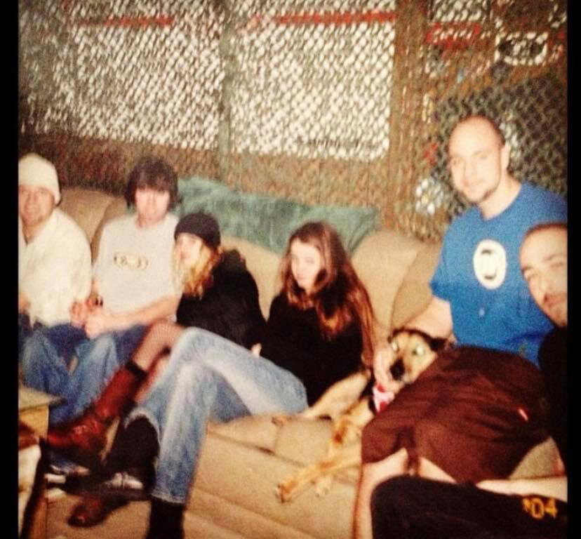 An early shot of the band, ca. 1996.