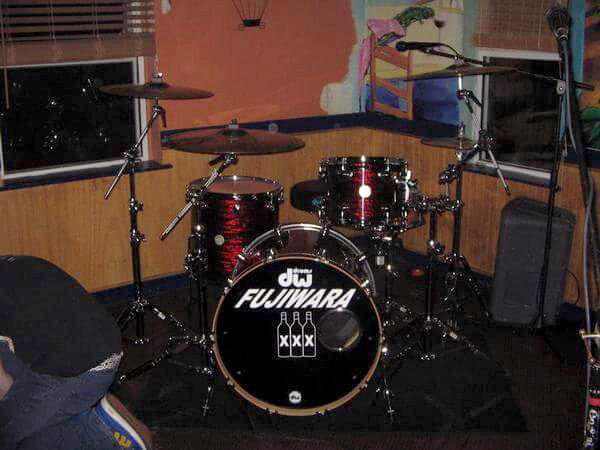 Fujiwara drum kit, at Chili Peppers in Kill Devil Hills, NC