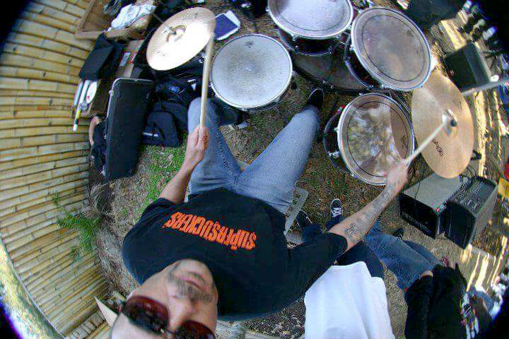 Skillet Kellett at a backyard skatebowl contest bash at Bob Hovey's (owner of Duck Village Outfitters) place, in the OBX.  ca. 2009