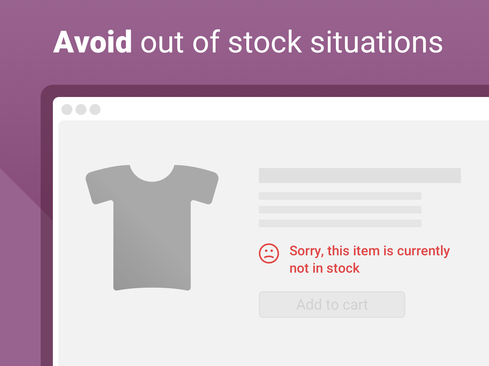 Never run out of stock again- with our little helper - Our safety stock app makes it easy to never loose sight on your stock. And therefore to avoid these nasty out of stock situations, that produce unhappy customers and a lot of work for you.
