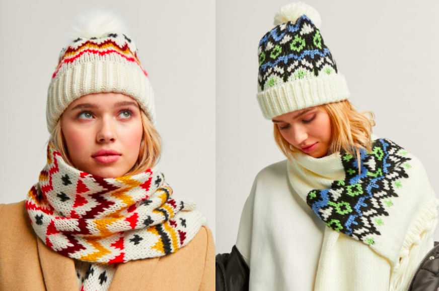 The Stradivarius look, with matching scarves.