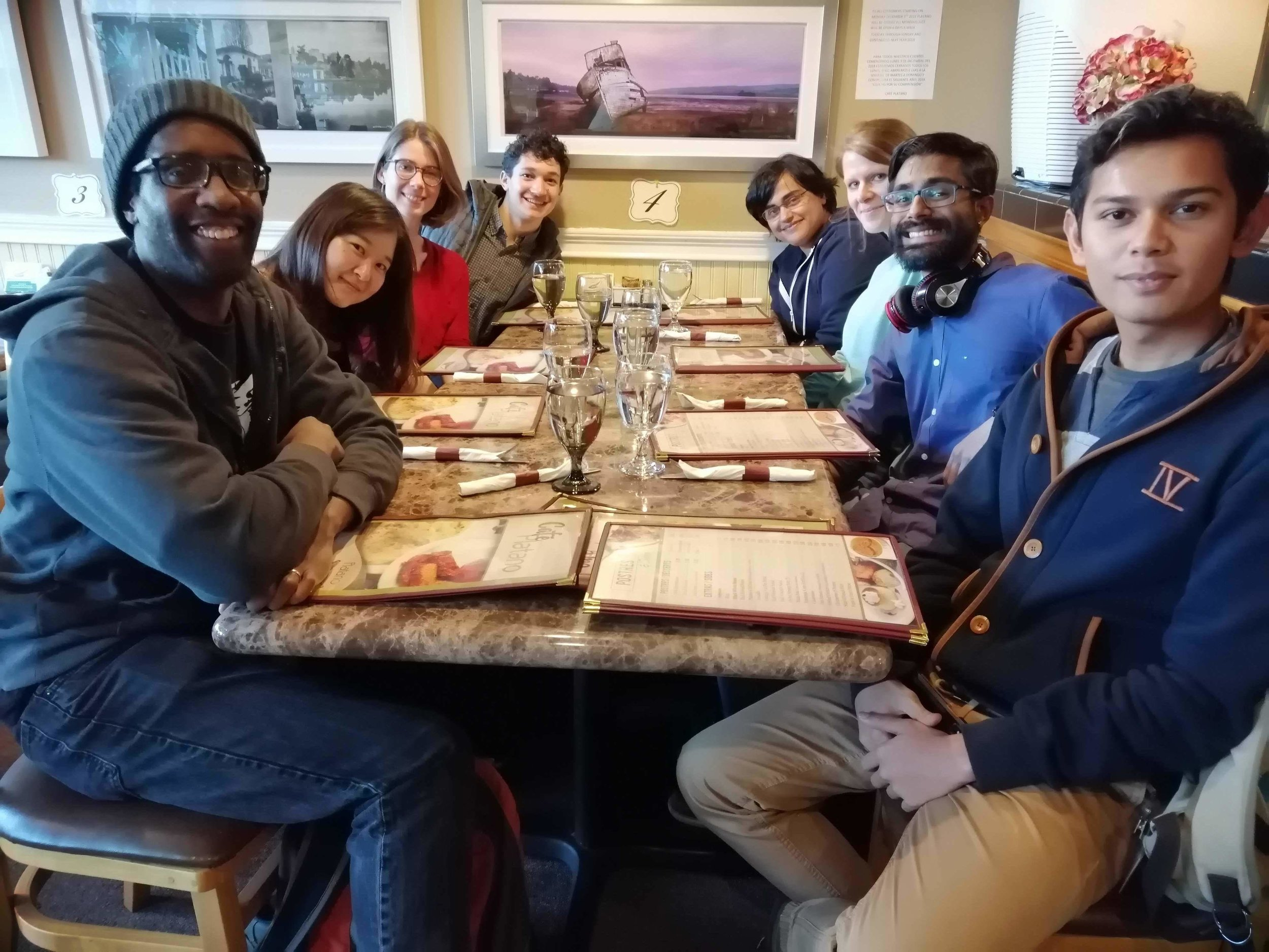 Celebration for Advait's Cell paper and Nneji's PO1 talk!