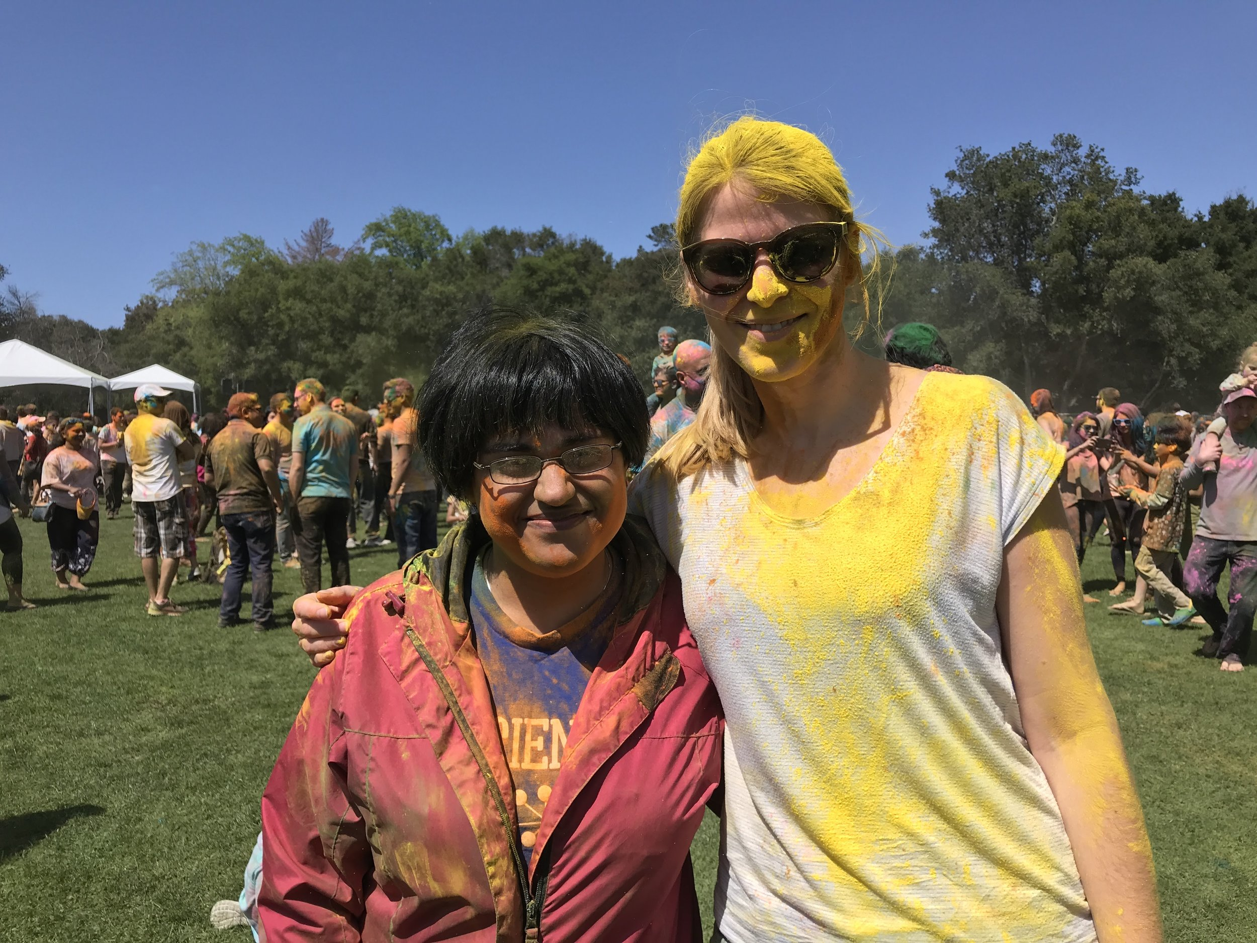 Celebrating Holi at Stanford!