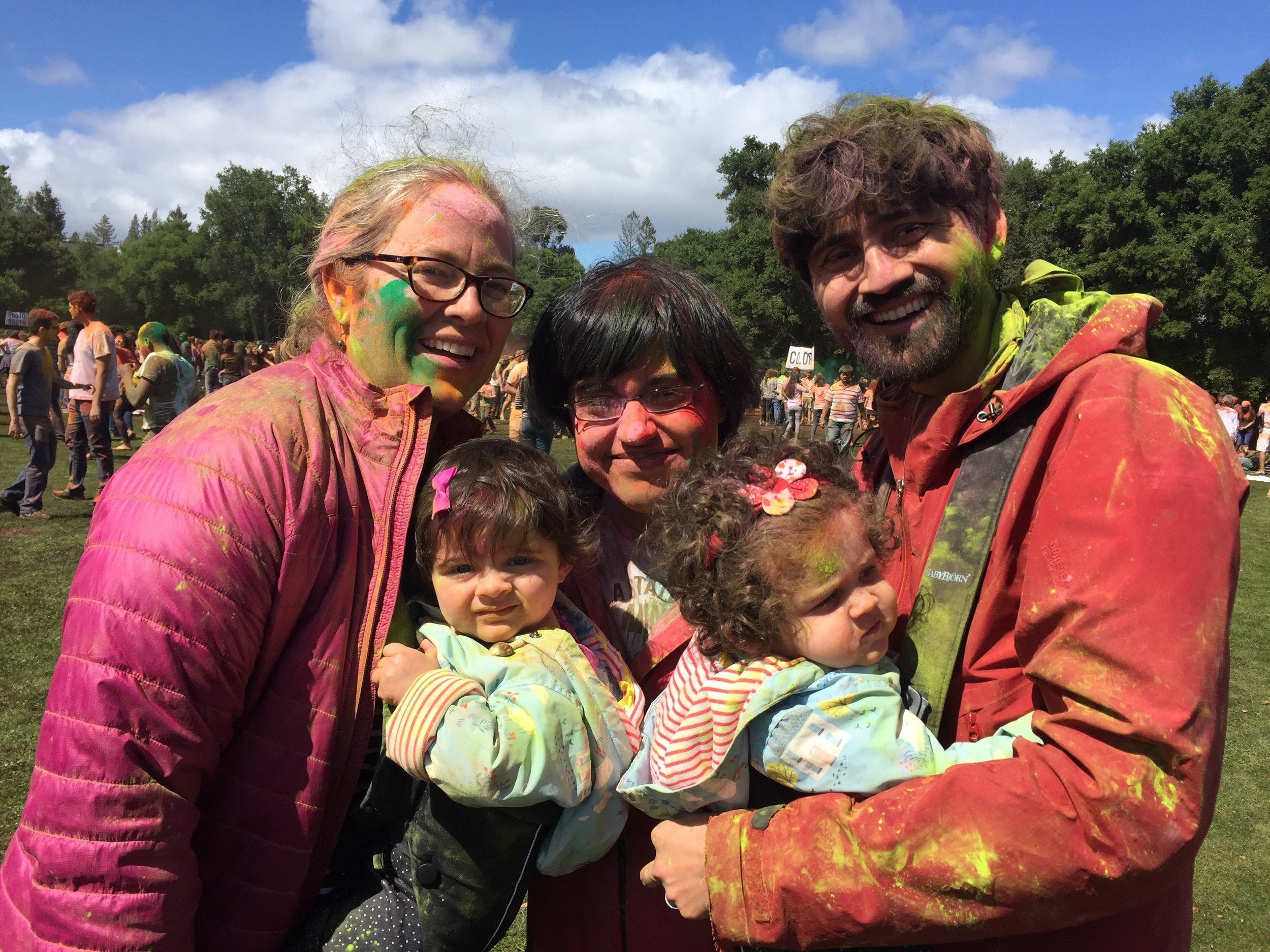 Holi celebrations with Sophie Dumont and Manu Prakash